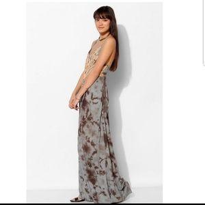 URBAN OUTFITTERS💟ECOTE Tie Dye Boho Maxi Dress